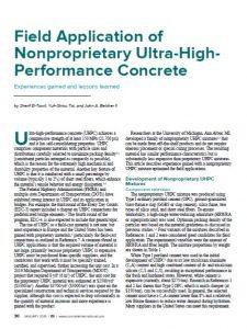 Field Applications of UHPC - Concrete International